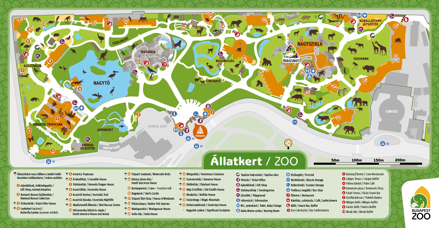 Zoo Map Zoo In The Heart Of Budapest