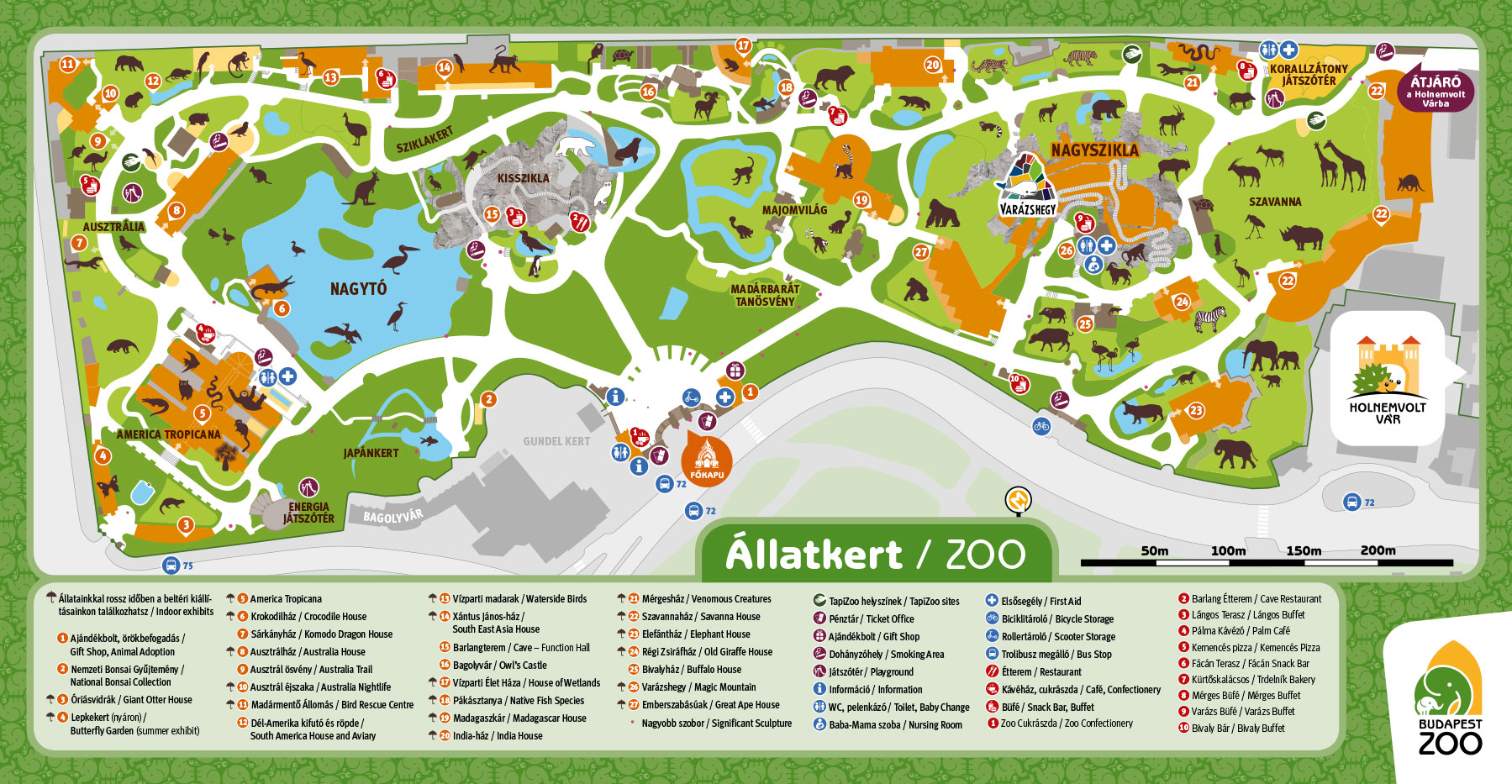 állatkert térkép Állatkerti térkép | Állatkert Budapest szívében állatkert térkép