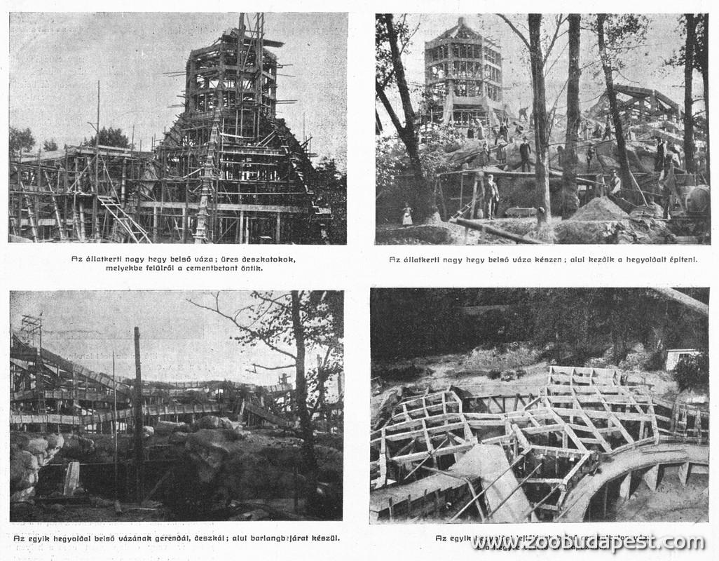 Az Állatkert sok más műemléki oltalom alatt álló épületéhez hasonlóan a Nagyszikla is 1909 és 1912 között épült. A kert egészére kiterjedő nagyszabású építkezések idejére az Állatkert csaknem három éven át zárva tartott