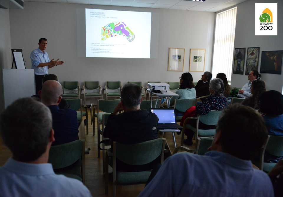 Dr. Reith András építész tervező a Pannon Park tervezésének szakmai kérdéseiről tart előadást